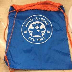 Build a Bear nylon drawstring bag